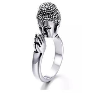 ブッダ指輪 釈迦 仏陀 仏頭 大仏 仏教 フリーサイズ RING21317|mahanadi