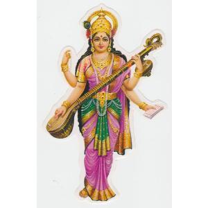 インドの神様ステッカー サラスバティー ST-SRSVT1|mahanadi