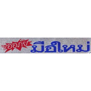 タイ語・タイ文字ステッカー 「ご容赦を 初心者」 車やバイクに ラメ版|mahanadi