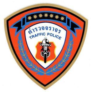 タイ語のステッカー 交通警察 交機 タイ文字 アジアン雑貨 エスニック|mahanadi