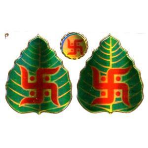 インドの神様ステッカー  卍と菩提樹の葉  STKR4 インド雑貨 アジアン エスニック|mahanadi