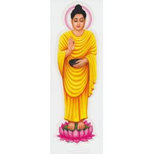インドの両面プリント神様ステッカー 仏陀 WST-BD1|mahanadi