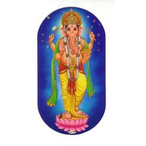 インドの両面プリント神様ステッカー ガネーシャ WST-GNS5|mahanadi