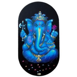 インドの両面プリント神様ステッカーです。 ヒンドゥー教の神様ガネーシャ(Ganesha)がプリントさ...
