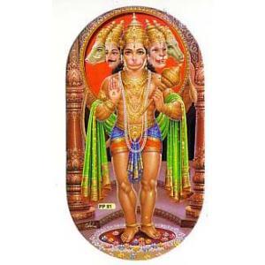 インドの両面プリント神様ステッカー ハヌマーン WST-HNMN1|mahanadi