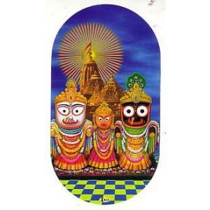 インドの両面プリント神様ステッカー ジャガンナート WST-JGNT1|mahanadi