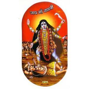 インドの両面プリント神様ステッカー カーリー WST-KL1|mahanadi