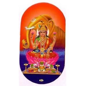 インドの両面プリント神様ステッカー ラクシュミー WST-LXM1|mahanadi