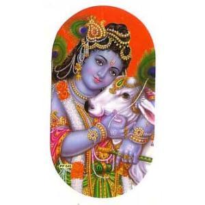 インドの両面プリント神様ステッカー ラーマ WST-RM1|mahanadi