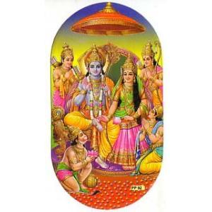 インドの両面プリント神様ステッカー ラーマとシータ WST-RMST1|mahanadi