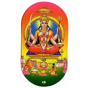 インドの両面プリント神様ステッカー サントーシー  ヒンドゥー教 車やバイクに アジアン雑貨 エスニック WST-STS1|mahanadi