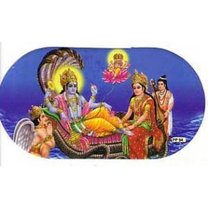インドの両面プリント神様ステッカー ビシュヌ ヒンドゥー教 車やバイクに アジアン雑貨 エスニック WST-VSN1|mahanadi