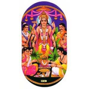 インドの両面プリント神様ステッカー ビシュヌ ヒンドゥー教 車やバイクに アジアン雑貨 エスニック WST-VSN2|mahanadi