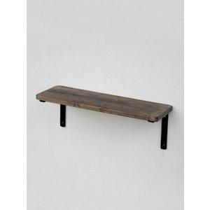 鉄+木:シェルフセット M:壁付け飾り棚 ウォールシェルフ|mahatagiya