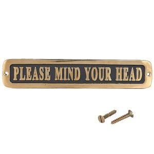 [ダルトン]Brass sign 真鍮製 サインプレート Please mind your head GS559-326MYH|mahatagiya
