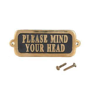[ダルトン]Brass sign 真鍮製 サインプレート Please mind your head GS559-326MYH2|mahatagiya