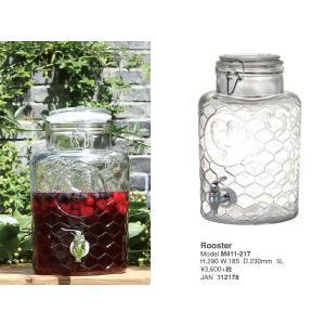 梅酒サーバーに:Beverage server Rooster 5L M411-217:ビバレッジディスペンサー|mahatagiya