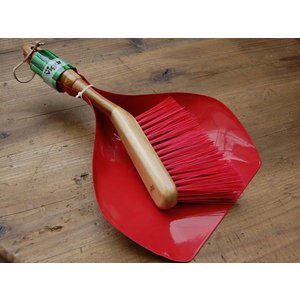 BAMBOO HANDY SET RED::バンブー 箒&塵取りセット S155-52::|mahatagiya