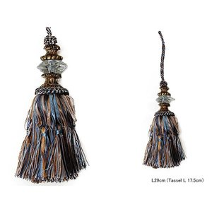 TASSEL BLUE/BROWN::タッセル S355-60::|mahatagiya