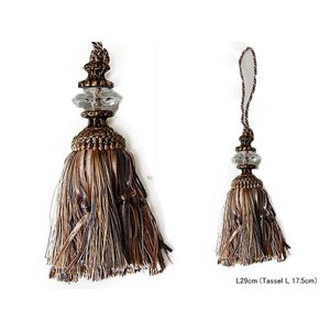 TASSEL GOLD/GRAY::タッセル S355-60::|mahatagiya