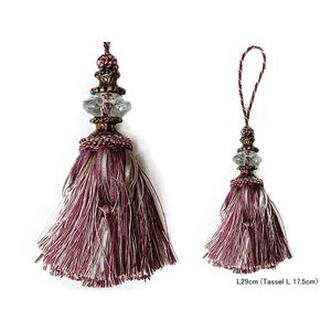 TASSEL PURPLE/BEIGE::タッセル S355-60::|mahatagiya
