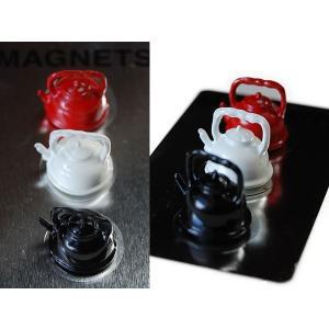 おしゃれな文房具::Tool Magnets キッチンツール マグネット ケトル カラー S426-201AS::|mahatagiya