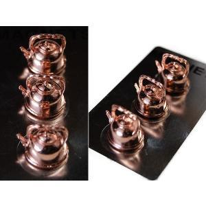 おしゃれな文房具::Tool Magnets キッチンツール マグネット ケトル ブラス S426-201BS::|mahatagiya