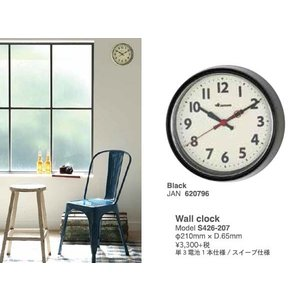 Wall clock S426-207 BLACK 壁掛け時計|mahatagiya