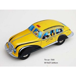 TIN CAR TAXI1::ブリキのクラシックカー タクシー S82258:: mahatagiya