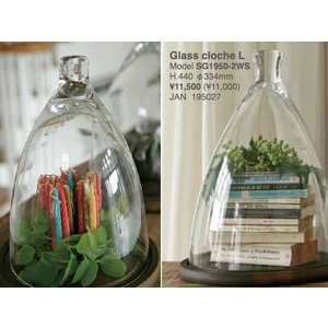 ::Glass cloche L SG1950-2WS::ガラスケース コレクションケース|mahatagiya
