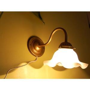 【ミルクグラスシェード真鍮ブラケットWH 壁掛け照明】|mahatagiya