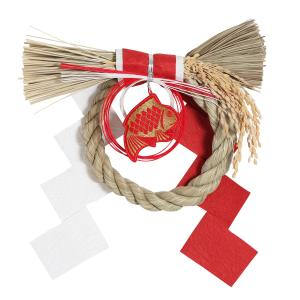 [京東都] お正月飾り 丸形 めで鯛 注連縄 |mahatagiya