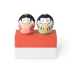 [中川政七商店][日本市] 雛だるま 桃緑|mahatagiya