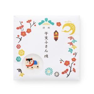 [中川政七商店][日本市] 干支ふきん 戌 白 お正月 縁起物|mahatagiya