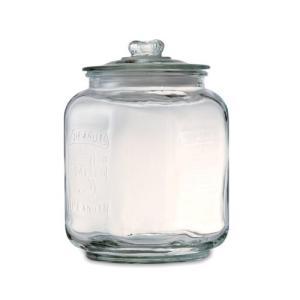 ::ピーナッツジャー Sサイズ::ガラス瓶 ミニ米びつ PSL-22309|mahatagiya