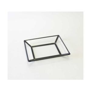 [志成販売] レプトス ガラス トレー 106026bk|mahatagiya