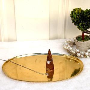 [志成販売] Brass ソートトレー オーバル L 308933|mahatagiya