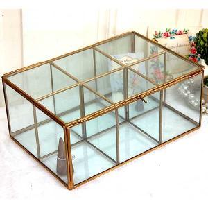[志成販売] Brass フレーム ガラスセパレートBOX 6BOX 308968|mahatagiya