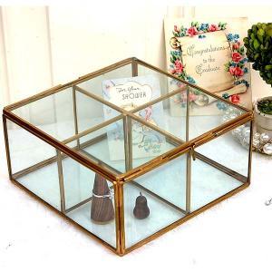[志成販売] Brass フレーム ガラスセパレートBOX 4BOX 308969|mahatagiya