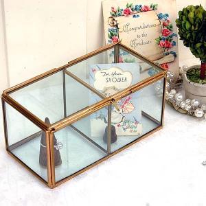 [志成販売] Brass フレーム ガラスセパレートBOX 2BOX 308970|mahatagiya