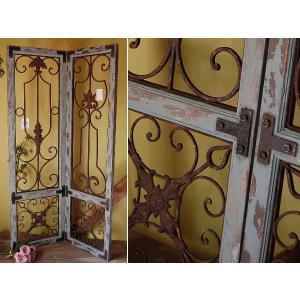 ウッドパーテーション:バロックウッドヴォレー 2枚セット:衝立 扉|mahatagiya