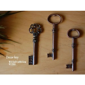 [スパイス] Decor key A 3pcs set 鍵のオブジェ DTDT1159B|mahatagiya