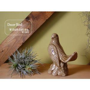 ::Decor Animal Bird 陶器の置物 鳥::シノワズリ|mahatagiya