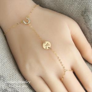 フィンガースリング ホースシュー ゴールド ブレスレット  [ Initial Jewelry / イニシャル ジュエリー] 海外受注|mahealani