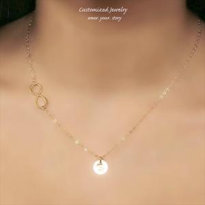 インフィニティ ゴールド ネックレス [Initial Jewelry / イニシャル ジュエリー] 海外受注|mahealani
