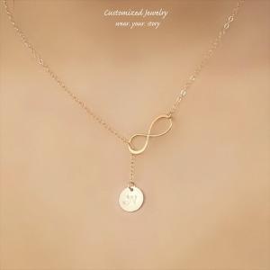 インフィニティ ラリアット ゴールド ネックレス [Initial Jewelry / イニシャル ジュエリー] 海外受注|mahealani