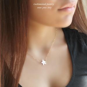 スター ゴールド ネックレス [Initial Jewelry / イニシャル ジュエリー] 海外受注|mahealani