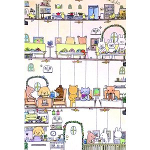ポストカード 5枚セット ギフトカード メッセージカード おしゃれ 猫 犬 うさぎ くま ハリネズミ エンドレスくま 動物 可愛い 誕生日 記念日 絵葉書 人気|mahounokoukou|05