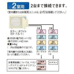 【BS受賞!】マルチエアコン ダイキン 2M45RAV システムマルチ 室外機のみ 2室用 4.5kW 単相200V [♪▲]|maido-diy-reform