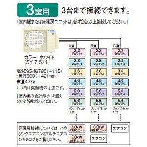 【BS受賞!】マルチエアコン ダイキン 3M68RAV システムマルチ 室外機のみ 3室用 6.8kW 単相200V [♪▲]|maido-diy-reform